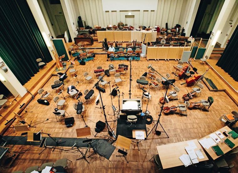 Aufnahmesession mit dem Deutschen Filmorchester Babelsberg
